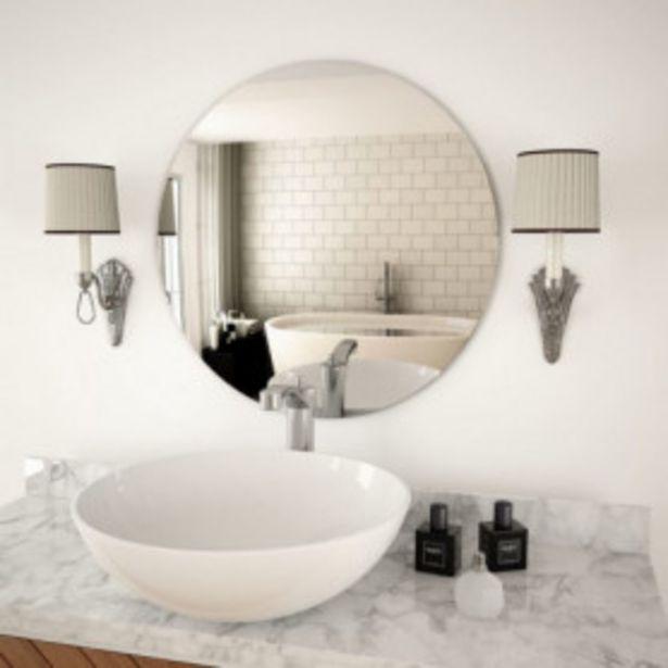 Oferta de Espejo de pared redondo vidrio 60 cm por 32,98€