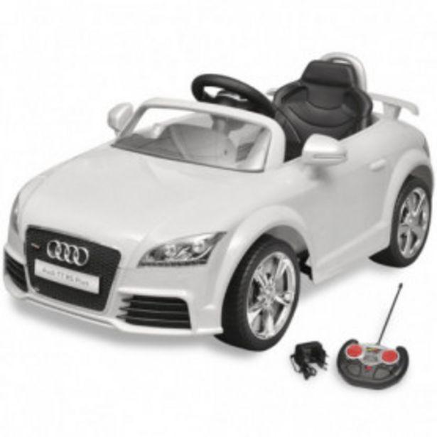 Oferta de Coche de juguete con mando blanco modelo Audi TT RS por 180€