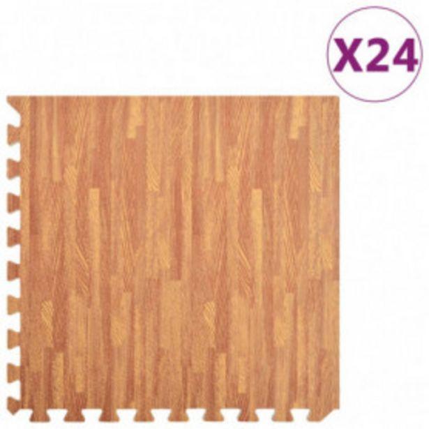 Oferta de Esterilla de suelo 24 pzas color madera 8,64 ㎡ EVA por 114,97€