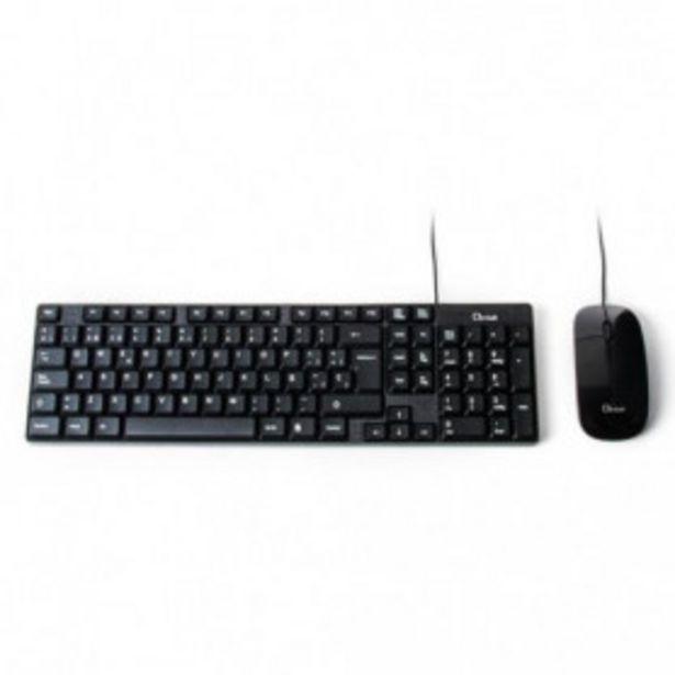 Oferta de COMBO TECLADO/RATON  L-LINK LL-KB-816 USB NEGRO por 10,99€