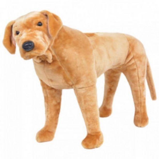 Oferta de Perro labrador de peluche de pie marrón claro XXL por 77,28€