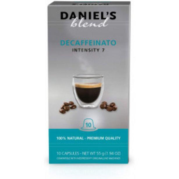 Oferta de Cápsulas de Café Descaffeinato Intensidad 7 - Daniel's Blend - 10 cápsulas por 1,65€