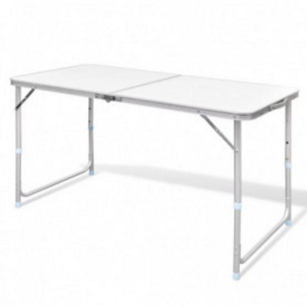 Oferta de Mesa de camping plegable ajustable 120x60 cm por 41,46€