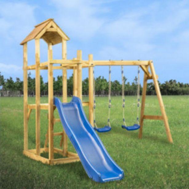 Oferta de Parque infantil tobogán, columpios y escalera 285x305x226,5 cm por 328,91€
