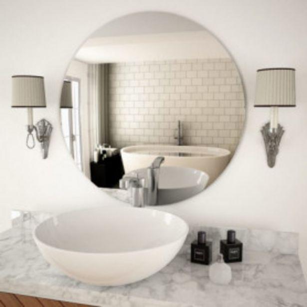 Oferta de Espejo de pared redondo vidrio 70 cm por 32,98€