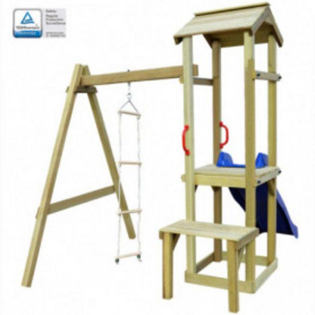 Oferta de Parque infantil con tobogán y escalera de madera por 296,87€