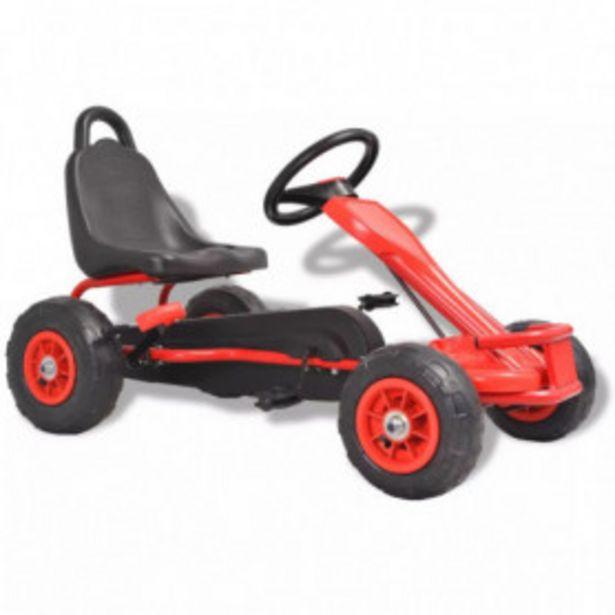 Oferta de Kart de pedales con neumáticos rojo por 116,85€