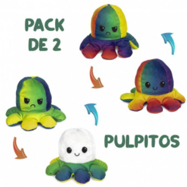Oferta de Pack 2 Pulpos Reversibles doble cara Multicolor / Blanco y Verde por 13,99€