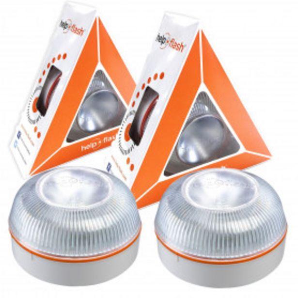 Oferta de 2x Luz de emergencia HELP FLASH - Señal V16 señalización de peligro homologada autorizada por la DGT por 39,99€