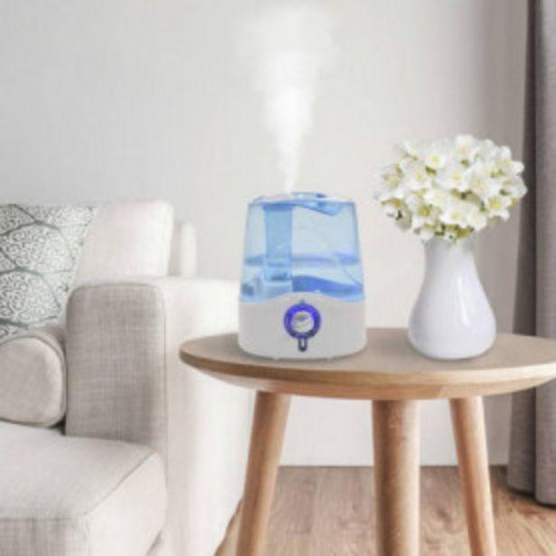 Oferta de Humidificador ultrasónico vapor frío luz nocturna 6 L 300 ml/h por 35,81€
