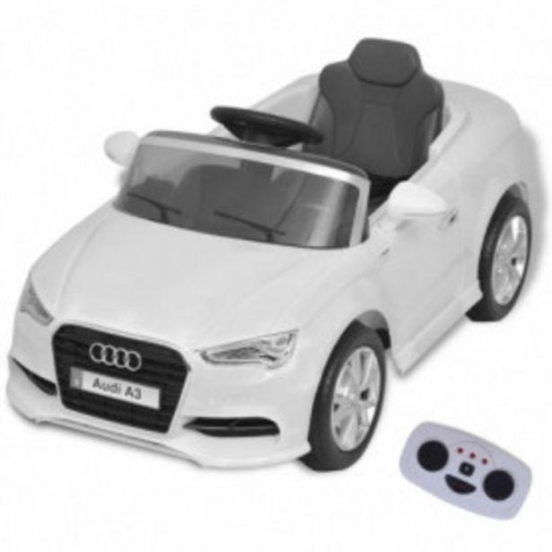 Oferta de Coche eléctrico con control remoto Audi A3 blanco por 178,12€