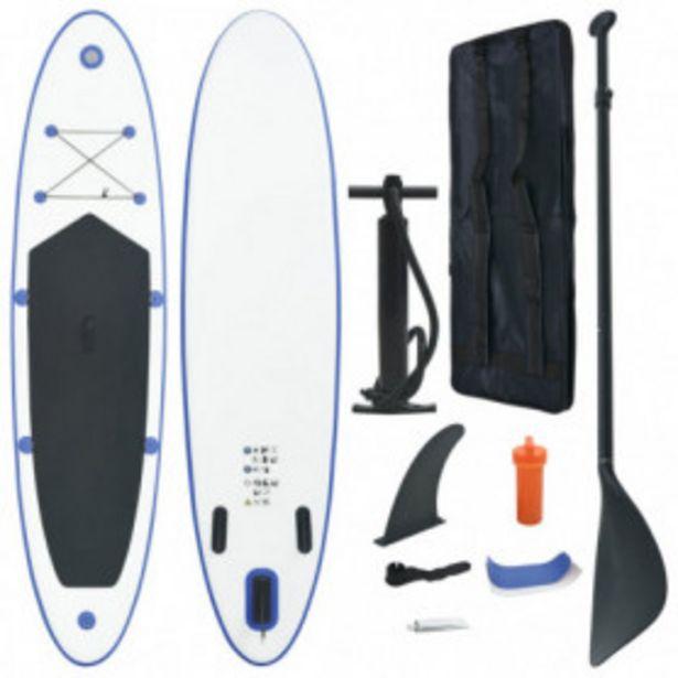 Oferta de Set de paddel surf tabla SUP inflable azul y blanco por 205,45€