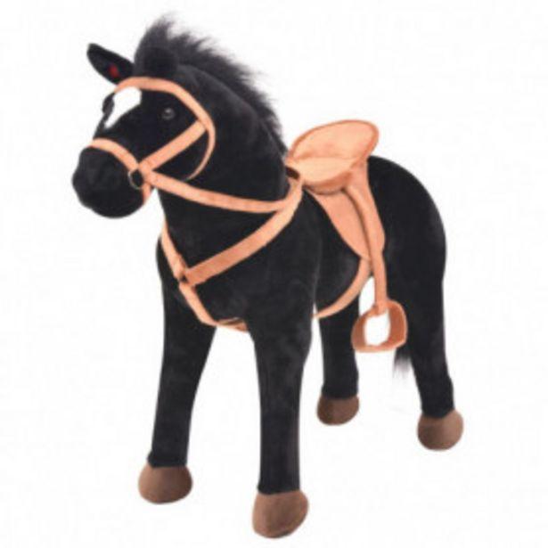 Oferta de Caballo de pie de juguete felpa negro por 71,62€