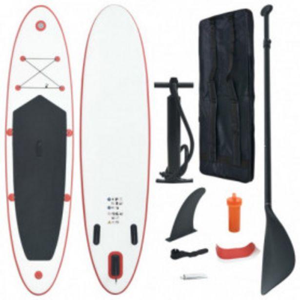 Oferta de Set de tabla inflable de paddle surf SUP rojo y blanco por 213,93€