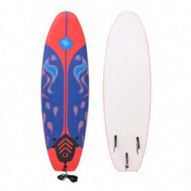 Oferta de Tabla de surf azul y roja 170 cm por 100,83€