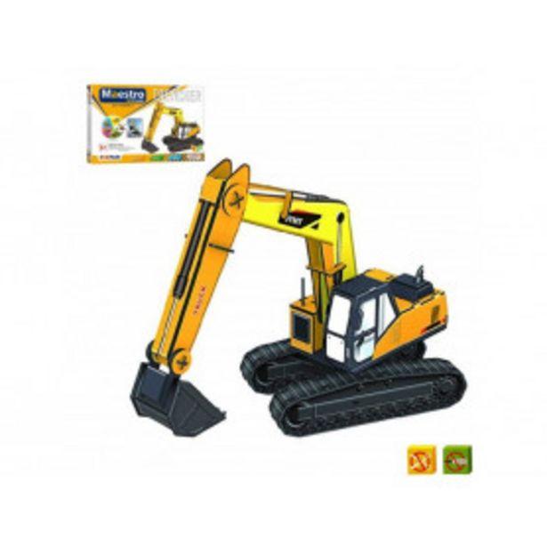 Oferta de Puzzle 3D Excavadora de 50 piezas - Tamaño montado: 32 x 10 x 21 cms por 14,99€