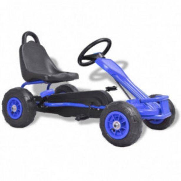 Oferta de Kart de pedales con neumáticos azul por 111,2€