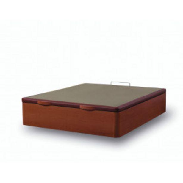 Oferta de Canapé abatible de madera Fenix Cerezo con marco tapizado en polipiel (Subida y Montaje incluido) por 260,99€