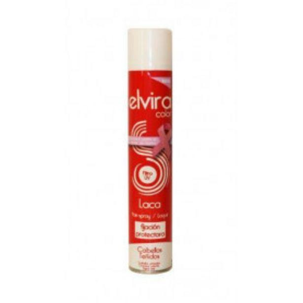 Oferta de Elvira color laca cabellos teñidos fijacion fuerte 400ml por 1,29€
