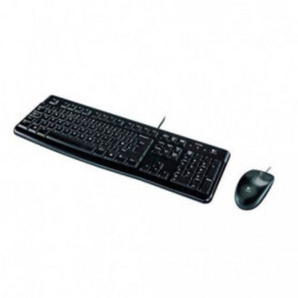 Oferta de COMBO TECLADO/RATON LOGITECH MK120 USB por 23,99€