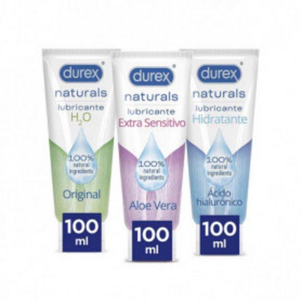 Oferta de Durex Lubricantes Naturals H2O, Extra Sensitivo y Extra Lubricado - 3x100ml por 33,1€