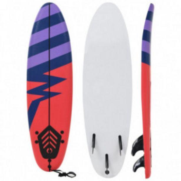 Oferta de Tabla de surf 170 cm rayas por 104,61€