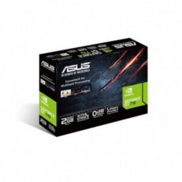 Oferta de TARJETA GRAFICA ASUS GT710-SL- 2GD5-BRK 2GB GDDR5 PCIE2.0 1*HDMI/1*DVI-D1*VGA BRACKET por 69,99€