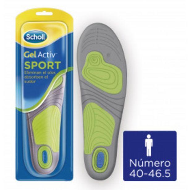Oferta de Scholl Plantillas Gel Activ Sport Hombre - Talla 40-46.5, 1 par (2 plantillas) por 15€