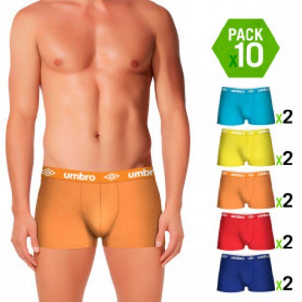 Oferta de Pack 10 calzoncillos UMBRO en Varios Colores por 29,99€