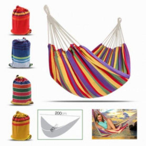 Oferta de Hamaca Colgante Multicolor (fácil De Transportar) por 12,99€