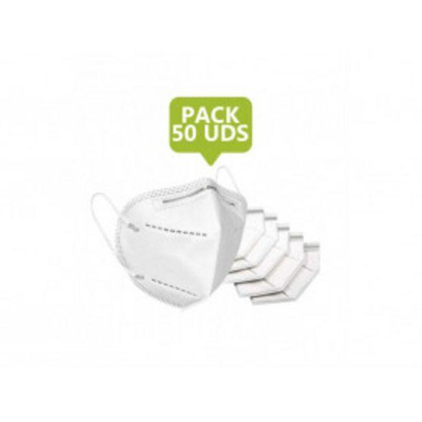 Oferta de Pack de 50 Mascarillas FFP2 por 16,99€