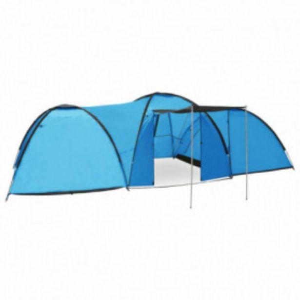 Oferta de Tienda de campaña tipo iglú 8 personas azul 650x240x190 cm por 115,92€