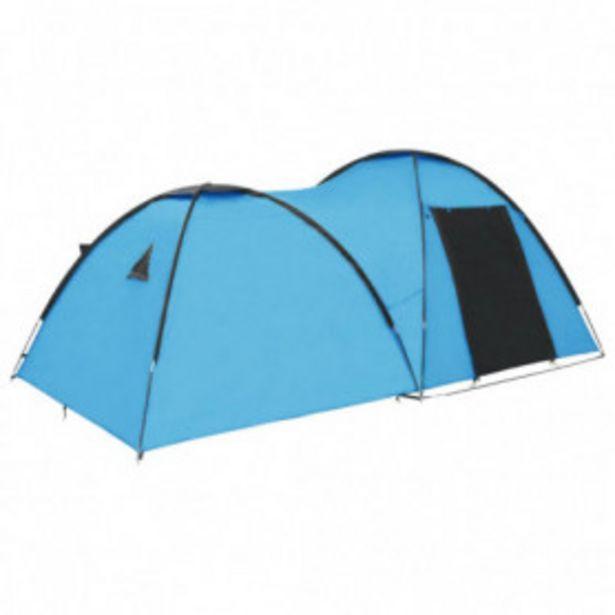 Oferta de Tienda de campaña tipo iglú 4 personas azul 450x240x190 cm por 109,32€