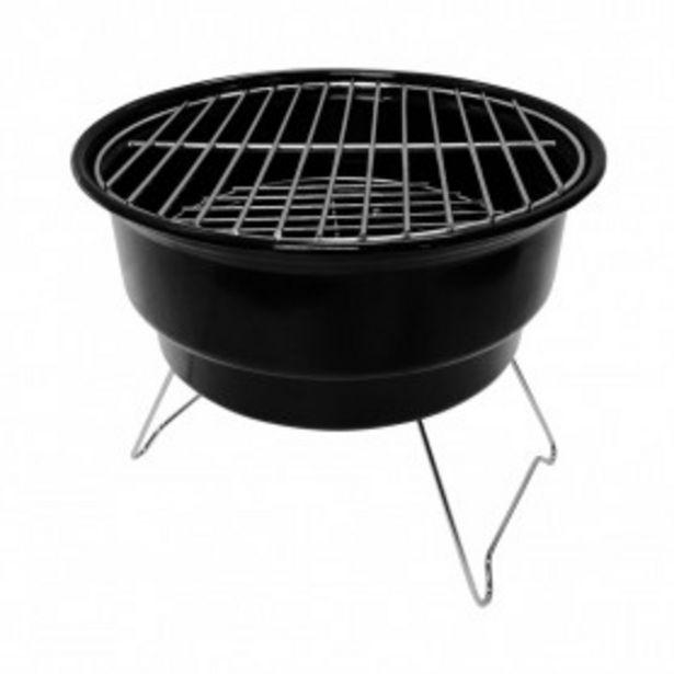 Oferta de Barbacoa de Carbón con Bolsa Isotérmica Marjal Negro Ø26,5x22,5cm 7house por 18,99€