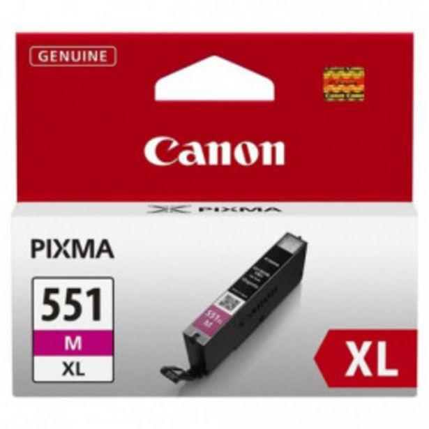 Oferta de TINTA CANON CLI-551XLM MAGENTA ALTA CAPACIDAD por 21,99€