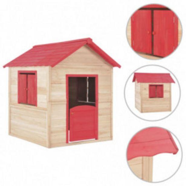 Oferta de Casa de juegos de niños madera roja por 269,54€
