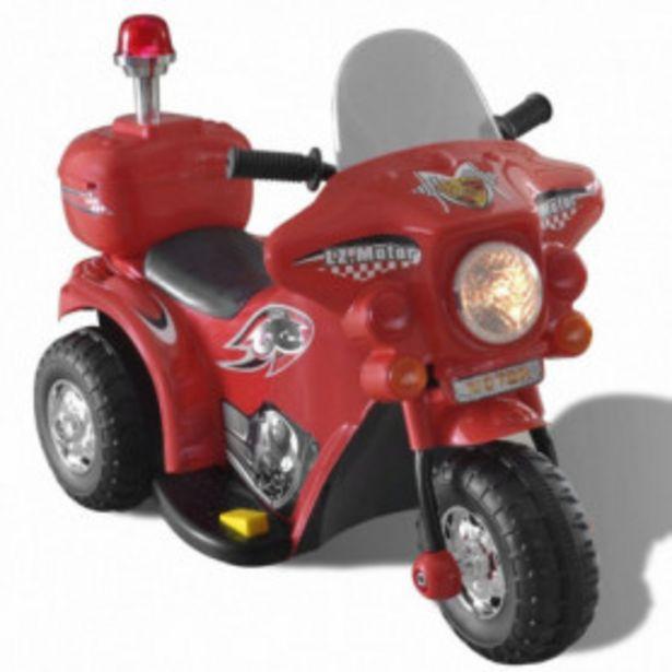 Oferta de Moto correpasillos a batería para niños, Rojo por 75,38€