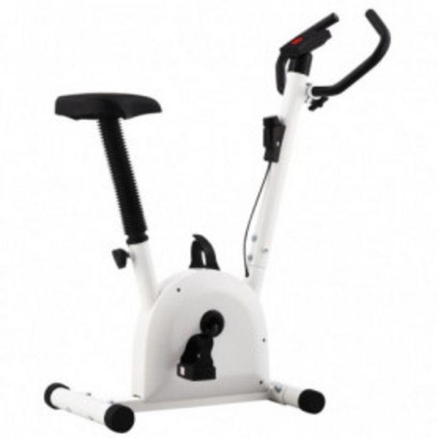 Oferta de Bicicleta estática con resistencia de cinta blanco por 76,33€