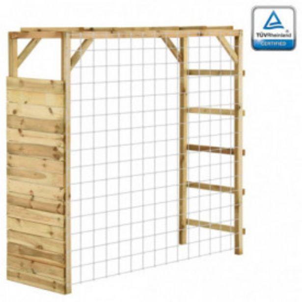 Oferta de Estructura escalar portería de fútbol madera pino 170x60x170 cm por 120,62€