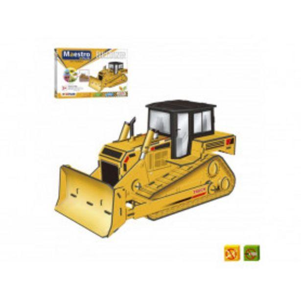 Oferta de Puzzle 3D Bulldozer de 50 piezas - Tamaño montado: 21 x 11 x 12 cms por 14,99€