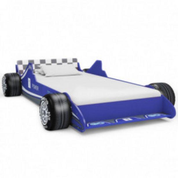 Oferta de Cama con forma de coche de carreras para niños 90x200 cm azul por 153,62€