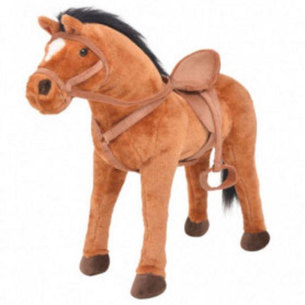 Oferta de Caballo de pie de juguete felpa marrón por 68,79€