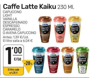 Oferta de Caffe latte Kaiku por 1€
