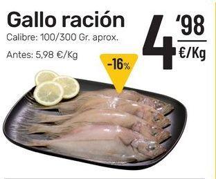 Oferta de Gallo de ración por 4,98€