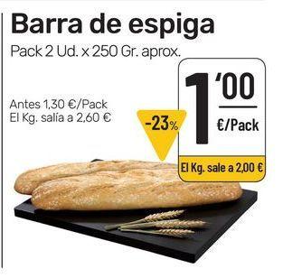 Oferta de Pan por 1€