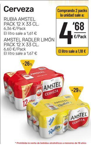 Oferta de Cerveza Amstel por 4,68€