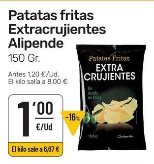 Oferta de Patatas fritas Alipende por 1€