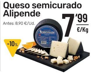 Oferta de Queso semicurado Alipende por 7,99€
