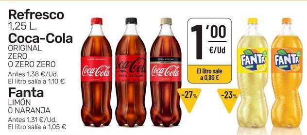 Oferta de Refrescos por 1€