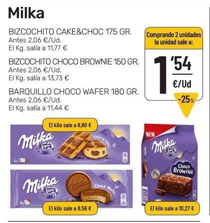 Oferta de Chocolate Milka por 1,54€